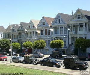 San Francisco Victorian houses puzzle