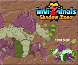 Sanctacaris. Invizimals Shadow Zone. The first dinosaur who used its hands to fight puzzle