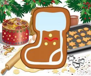 Santa Claus boot biscuit puzzle