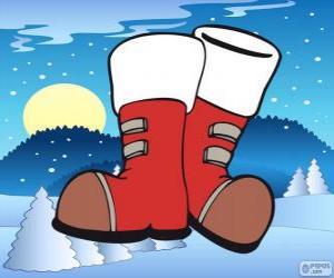 Santa Claus boots puzzle