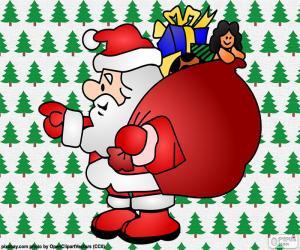 Santa Claus, drawing puzzle