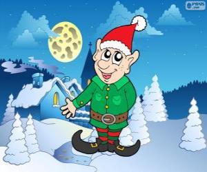 Santa Claus elf puzzle