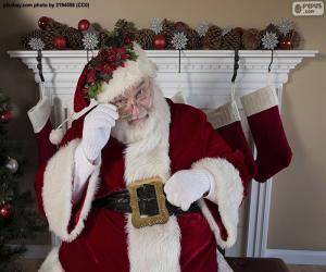 Santa Claus, fireplace puzzle