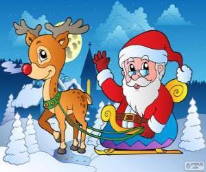 Santa Claus in sleigh puzzle
