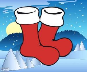 Santa Claus socks puzzle