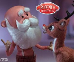 Santa Claus with Rudolph puzzle