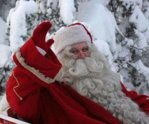 Santa waving his hand puzzle