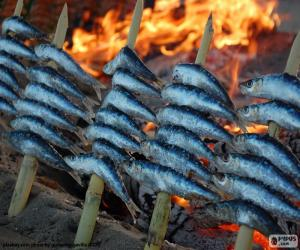 Sardines cooked with firewood puzzle