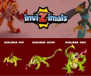 Scalinha in three phases Scalinha Pup, Scalinha Scott and Scalinha Max, Invizimals puzzle