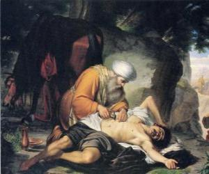 Scene from the Parable of the Good Samaritan puzzle