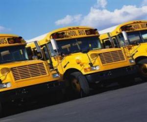 School bus parking puzzle