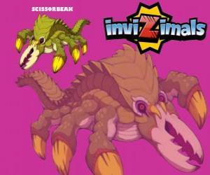 Scissorbeak. Invizimals. A reptile that digs tunnels and can use his body as a drill puzzle