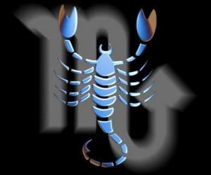 Scorpio. The scorpion. Eighth sign of the zodiac. Latin name is Scorpius puzzle