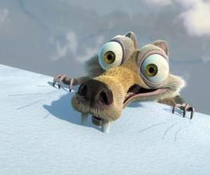 Scrat the squirrel, frightened puzzle