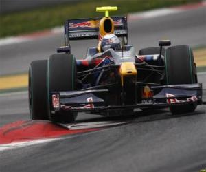 Sebastian Vettel piloting its F1 puzzle