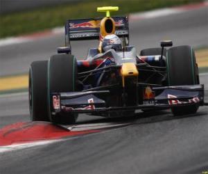 Sebastian Vettel piloting its F1 puzzle