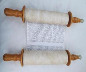 Sefer Torah, a scroll of the Torah puzzle
