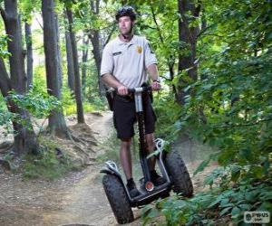 Segway, a two-wheeled, self-balancing, battery-powered electric vehicle puzzle