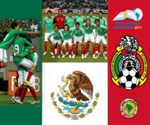 Selection of Mexico, Group C, Argentina 2011 puzzle