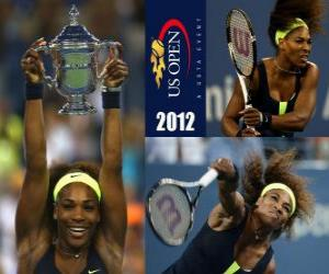 Serena Williams 2012 US Open Champion puzzle