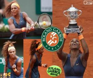 Serena Williams champion Roland Garros 2013 puzzle