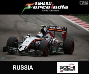 Sergio Pérez, 2015 Russian Grand Prix puzzle