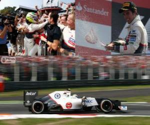 Sergio Pérez - Sauber - Grand Prix of Italy 2012, 2 nd classified puzzle