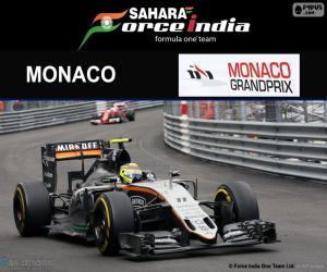 Sergio Perez, 2016 Grand Prix of Monaco puzzle