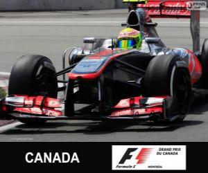 Sergio Perez - McLaren - Circuit Gilles Villeneuve, Montreal, 2013 puzzle