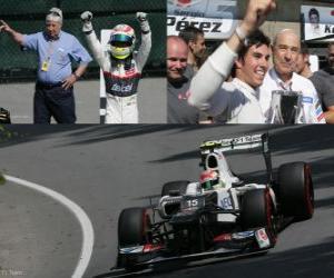 Sergio Perez - Sauber - Grand Prize of Canada (2012) (3rd position) puzzle