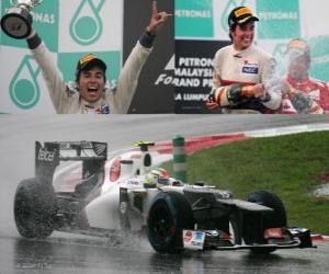 Sergio Perez - Sauber - Malaysian Grand Prix (2012) (2nd position) puzzle