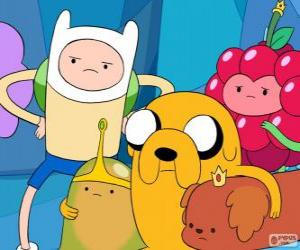 Several characters from AdventureTime puzzle