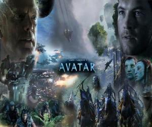 Several characters of avatar puzzle