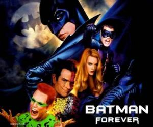 Several characters of Batman puzzle