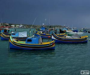 Several fishing boats puzzle