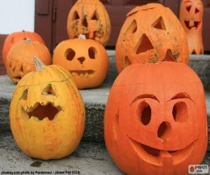 Several Halloween Pumpkins puzzle