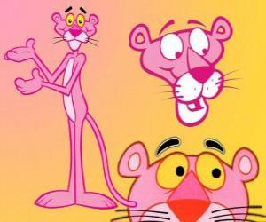Several images of The Pink Panther puzzle