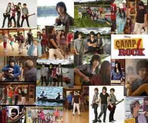 Several pictures of Camp Rock puzzle