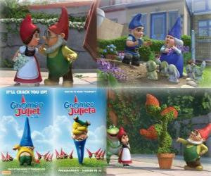 Several pictures of Gnomeo and Juliet puzzle
