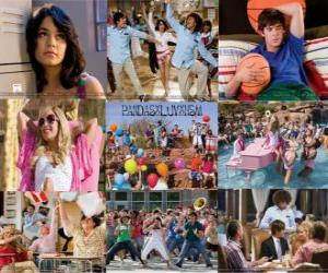Several pictures of High School Musical 2 puzzle