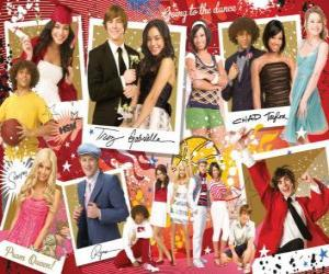 Several pictures of High School Musical 3 puzzle