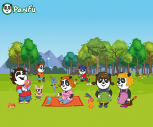 Several young Panfu pandas in the park puzzle