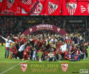 Sevilla, champion Europa League 14-15 puzzle