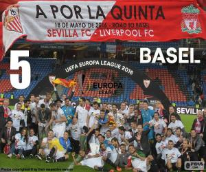 Sevilla, champion Europa League 2015-16 puzzle