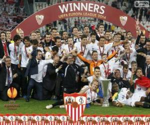 Sevilla FC, champion UEFA Europe League 2013-2014 puzzle