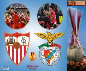 Sevilla vs Benfica. Europe League 2013-2014 Final in the Juventus Stadium, Turin, Italy puzzle