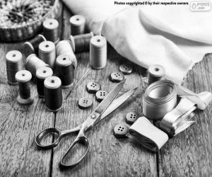 Sewing materials puzzle