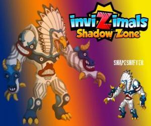 Shapeshifter. Invizimals Shadow Zone. Huge totem with immense power is the god of the forests of the Native Americans puzzle