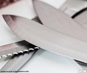 Sheets of kitchen knives puzzle