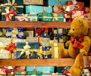 Shelves full of gifts puzzle